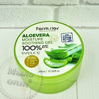 Купить Aloe Vera Moisture Soothing gel 100% FarmStay в Украине